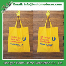 Yellow Cotton Shopper / Reusable Cotton Shopping Bag / Natural Cotton Tote Bag