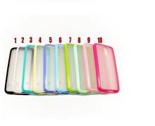 For Samsung S5 i9600 Bumper Case, Hybrid Transparent PC+TPU Bumper Frame