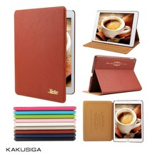 Kakusiga new design genuine leather case for ipad air 2/6 with low price