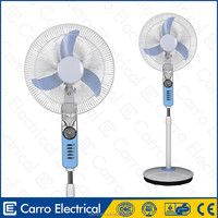 promotion low price 16 inch dc solar stand fan with led lights DC-12V16H
