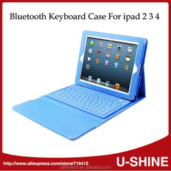 Leather Case Wireless Bluetooth Keyboard for iPad 4/ 3 /2