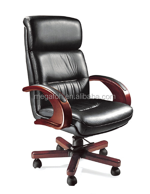 Classic Black Leather Chair Executive Office Furniture