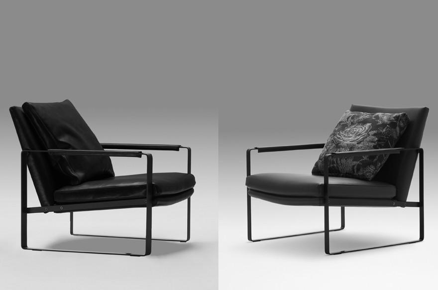 블랙 스틸 프레임 Leman 라운지 의자-거실 의자-상품 ID:640426542 ...