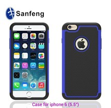 Customized pc tpu silicon mobile phone case for iphone 6 plus