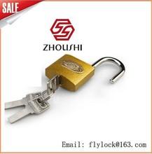38mm Golden flash arc padlock with computer keys