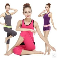 summer breathable yoga clothes gym suit sleeveless yoga clothes yoga sport wear