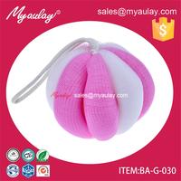 2015 china wholesale funny pumpkin custom sponge bath body shower foam bath sponge for walmart audit BA-G-030