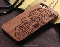 Wood add pc DIY phone case decoration printing for iphone 6s cover.