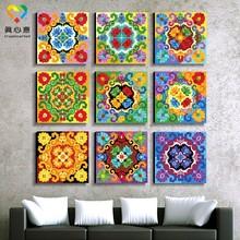 wholesale art and craft supplies mandala throw painting art craft models