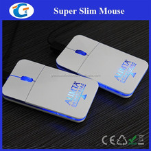 Computer USB Wired Optical Slim Flat Pocket Mouse