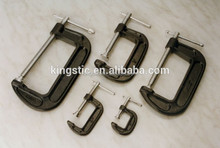 Cast iron G clamp/C clamp/GC100/Cast iron,ball end for surface protection/Range:0-25mm,0-50mm,0-75mm,0-100mm,0-125mm