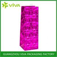 Top Grade Wholesale Paper solid color wine gift bag