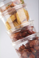 Hot sale clear round Deli container / 8oz - 32oz PET round containers