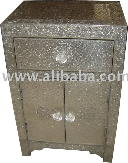 Embossed Metal Bedside