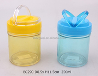 250ml glass jar with sprayed color