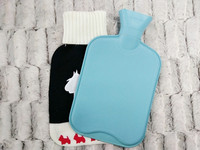 warmly BS hot water bottles bags with jacquard knitted cover