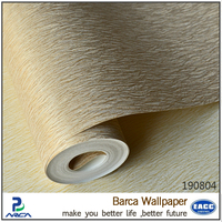 fireproof and waterproof fabric backed vinyl wallpaper for bathroom