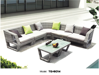 Best Selling Synthetic Rattan Furniture Durable Outdoor Costco Sectional sofa