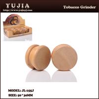 Smoking tool Original Wooden Tobacco Grinder with Cylinder Zine-alloy CNC Teeth manufacturer China factory JL-155J