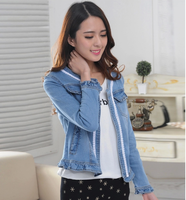 Latest spring design womennew design jean jacket wholesale ,OEM service