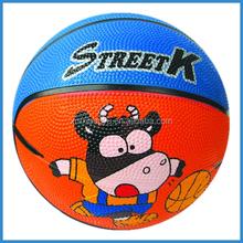 non-toxic size 1,2,3 cartoon rubber basketball,mini indoor basketballs