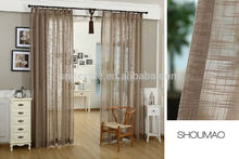 2015 newest design burlap jute shower curtain with matching window curtain