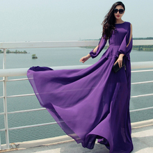 2015 Fashion long sleeve chiffon formal evening dress wholesale floor length maxi cocktail dresses with OEM service