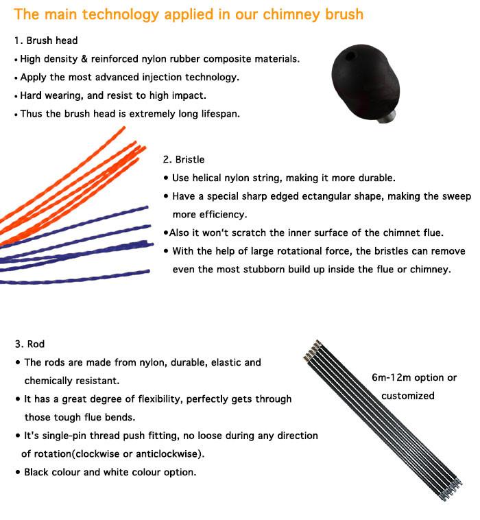 flexible nylon chemin e brosse pour conduit de fum e brosse de nettoyage id de produit. Black Bedroom Furniture Sets. Home Design Ideas