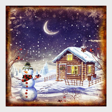 Funny wall painting canvas oil painting for christmas decoration