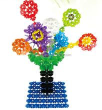 kids funny plastic flower building block for preschool