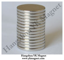 Strong N35 Neodymium D10 X 1mm Disc magnet with nickel coating
