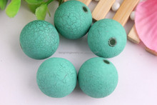 Top Quality!! Wholesale round bubble gum acrylic crackle beads/Bulk acrylic Chunky Jewelry Beads