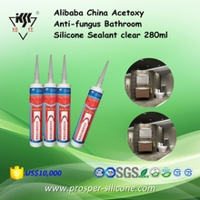 Alibaba China Acetoxy Anti-fungus Bathroom Silicone Sealant clear 280ml