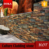 Natural slate gold rock wall panel cladding stone