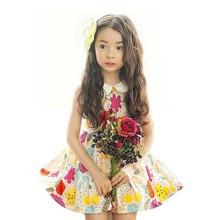 Tat1431korean children clothing cotton flower kids dress