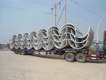 transportation of large diameter corrugated steel arching plates for culvert