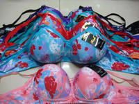 Customize irregular flower printed tie-dyed printed bra sexy erotic sexy female underwear