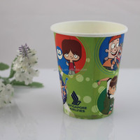 7oz customized logo printed disposable single wall muffin paper cup