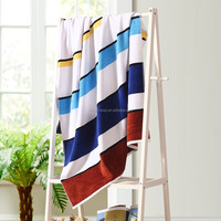 1000GSM 21S 80*160cm Yarn Dyed Organic Cotton Weighted Beach Towel