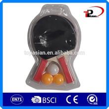 Barato equipo de tenis de mesa / diseño del tenis de la raqueta / custom pelota de tenis de mesa paletas
