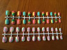 Girl Dresses Artificial Nail Art Child Fake Nails YT-C104