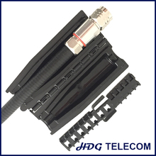 "Slim Lock Closure Family for wireless weatherproofing applications, Gel seal closure, 1/2""S to RRU bolt (N connector)"
