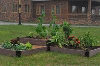 Wood-plastic composite raised flower pot_garden pot,tree pot,flower bed raised garden beds