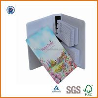 Custom made phone number book/promtional cute address book/A5 size pvc phone calling notebook