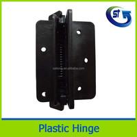 Tube gate soft close nylon plastic hinge