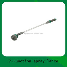 Telescopic 7 dial spray lance /Aluminum garden water spray lance/wand