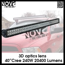 Cheap 3D LED light 240W 40Inch LED Car Light bar Spot/Flood/Combo beam LED light bar
