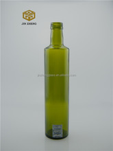 Screw Cap Sealing Type Round Glass Beverage Bottles For Olve Oil 500ml