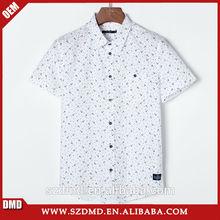 2015 nuevo diseño caliente venta manga corta impresa blanca camisas para el niño