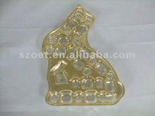 bandeja de burbujas de oro